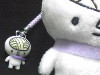 饂飩脳 マフラーストラップ 紫